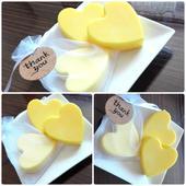 Svatební srdce - žluté,