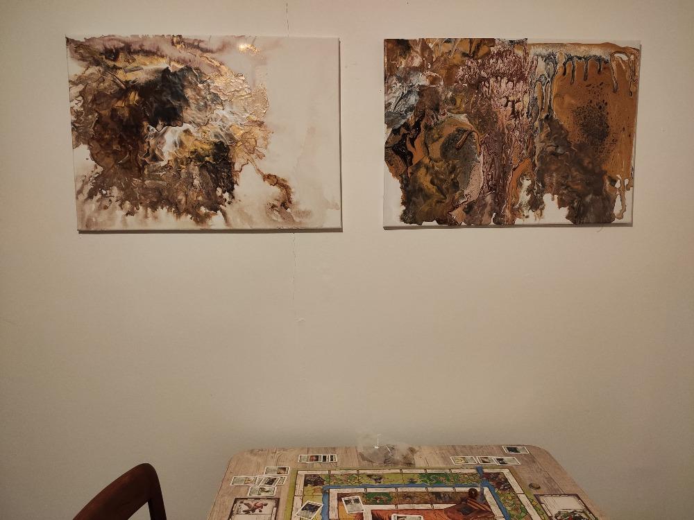 Chata - Košátky 2021 - Obrazy jsem tvořila s neteří