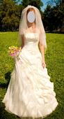 Svadobné šaty - smotanové, 38