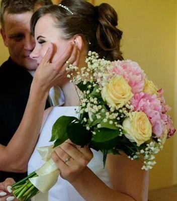 Svadobné kytice neviest z Mojej svadby - @miiriamka
