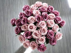 Růže látkové do ložnice