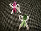 Vývazek růžový, vývazek  zelený,