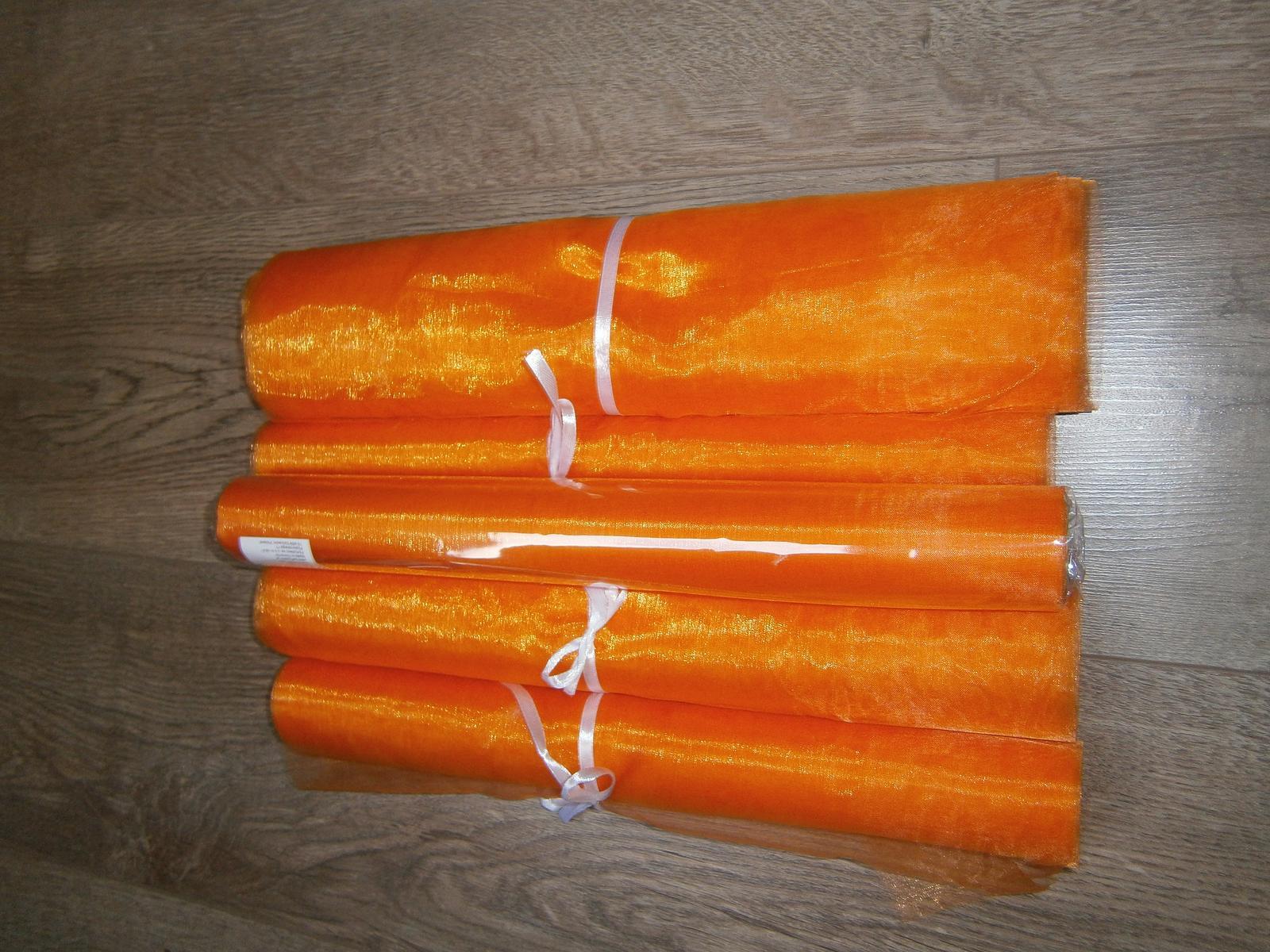 Organza oranžová - Obrázek č. 1