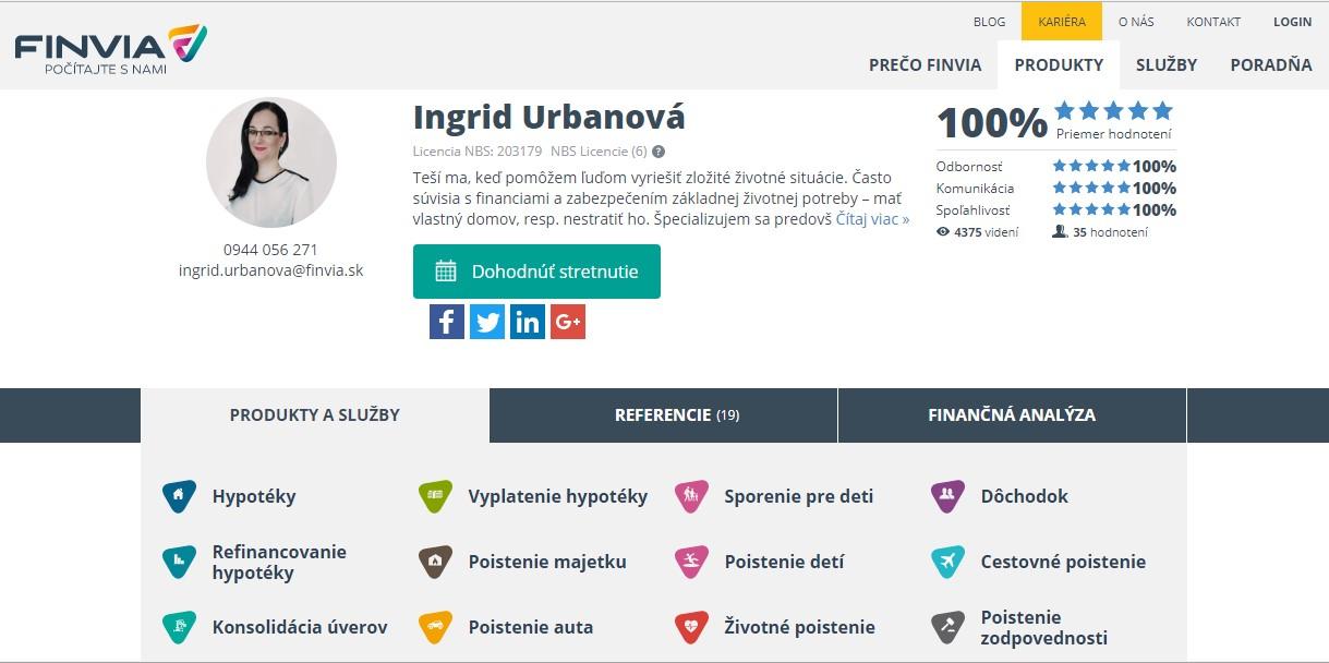 ina_maklerka - FINVIA - komplexné finančné poradenstvo