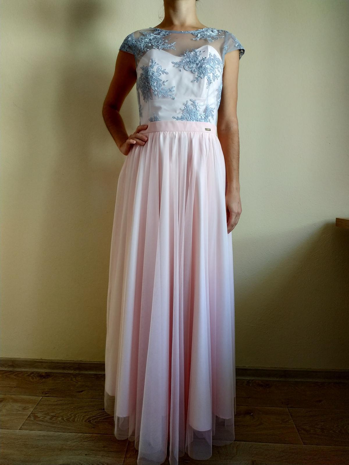 Dlhé ružové šaty - Obrázok č. 1
