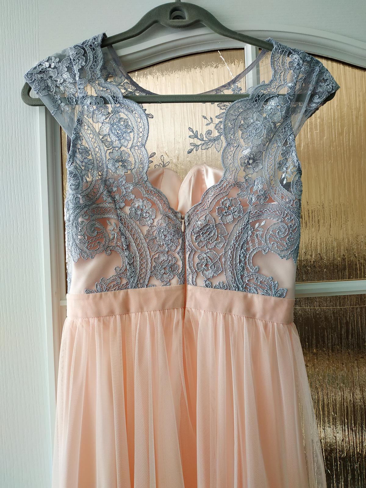 Dlhé ružové šaty - Obrázok č. 2
