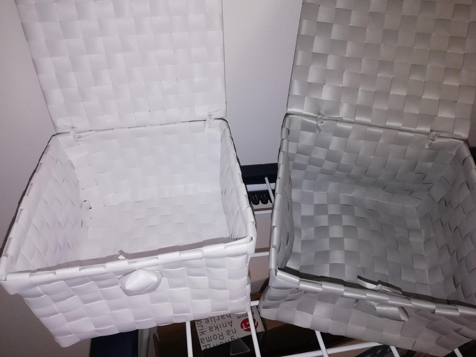 Košíček 2x bílá a šedá - Obrázek č. 1