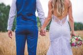 Svatební šaty v BOHO stylu, krajka z Portugalska, 36