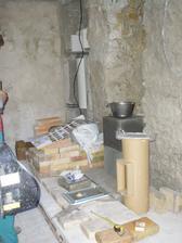 príprava na kachľovú pec - svojpomocne, začíname ťahať komín