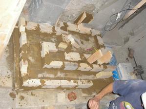 a staviame piecku - prvé poschodie
