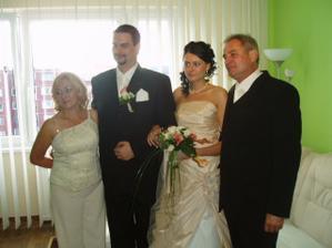 s manželom a mojimi rodičmi