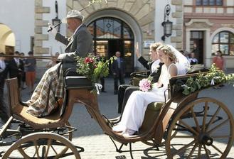 svatba byla kočárová:-)
