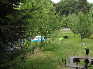 v létě trampolína,bazén..parádička
