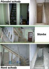 Stavba novych schodu (jsou opacne nez ty puvodni)