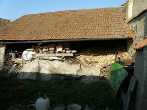 sopa na drevo, asi nejzachovalejsi budova v cele zahrade