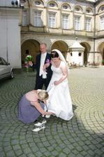 Přezouvání nevěsty