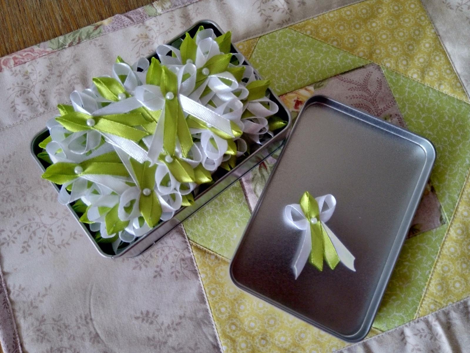 Vývazky zeleno-bílé - Obrázek č. 1