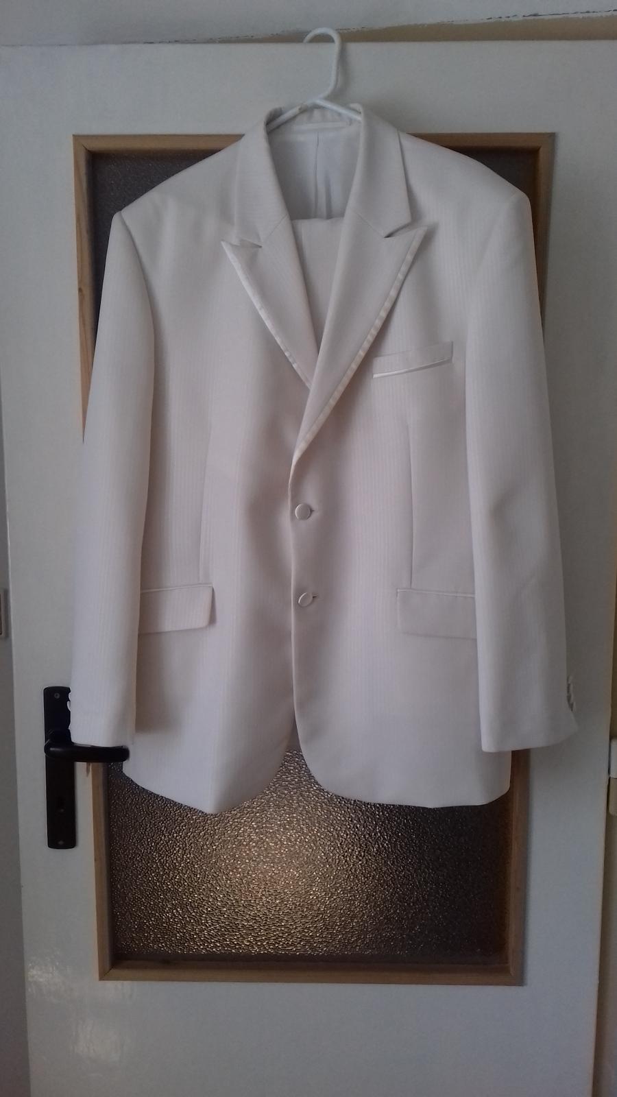 Oblek 56 světlá ivory - Obrázok č. 1