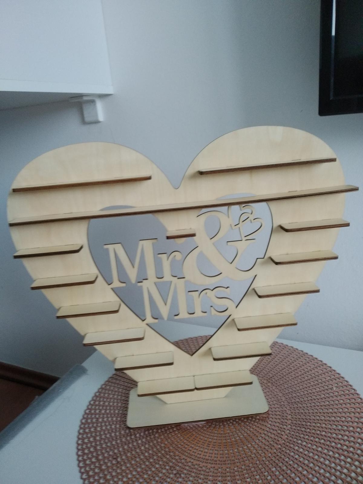 stojan drevené srdce - Obrázok č. 1