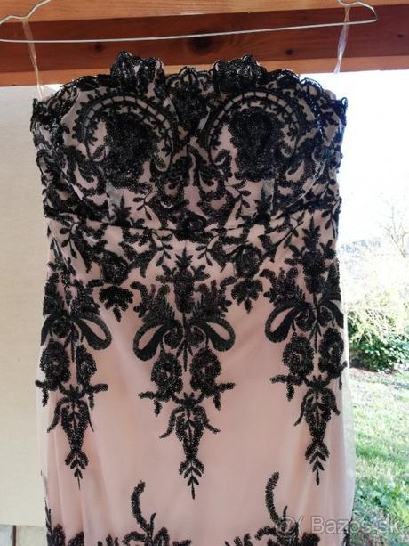 Béžové šaty s flitrami - Obrázok č. 2