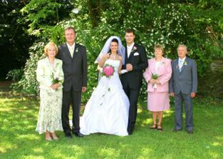 Rodiče nevěsty, maminka a strýc ženicha