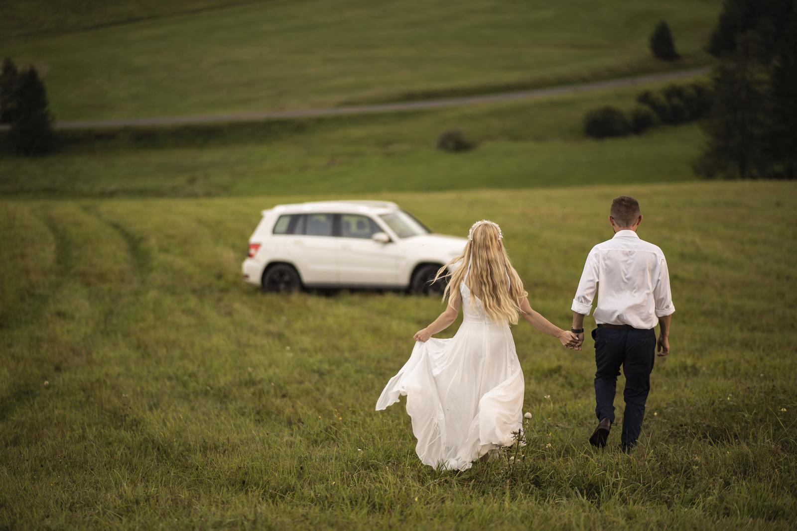 Jednoduché svadobné šaty 36 - Obrázok č. 3