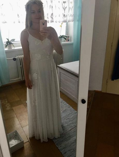 Jednoduché svadobné šaty 36 - Obrázok č. 4