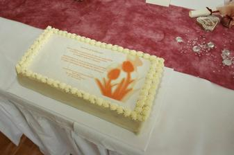 nase oznamenie... torta...