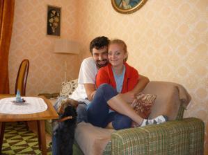 ja a moj snubenec v domceku ktory si chceme prerobit