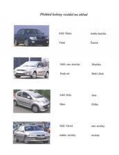 Přehled aut na obřad