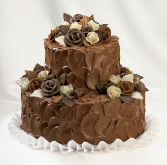 Moje retro svatba v krátkých šatech:-) - dort určitě čokoládový