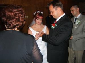 výmena svadobných prsteňov