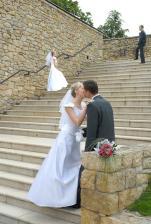 schody v klášterních zahradách (hned vedle zámku)