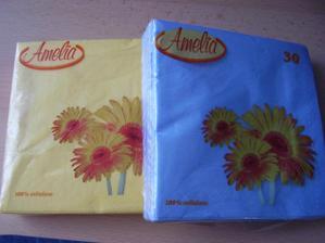 barevné ubrousky  - balení 12,90 Kč