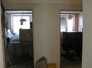 pohled do 2 pokojů, které se nerekonstruovali