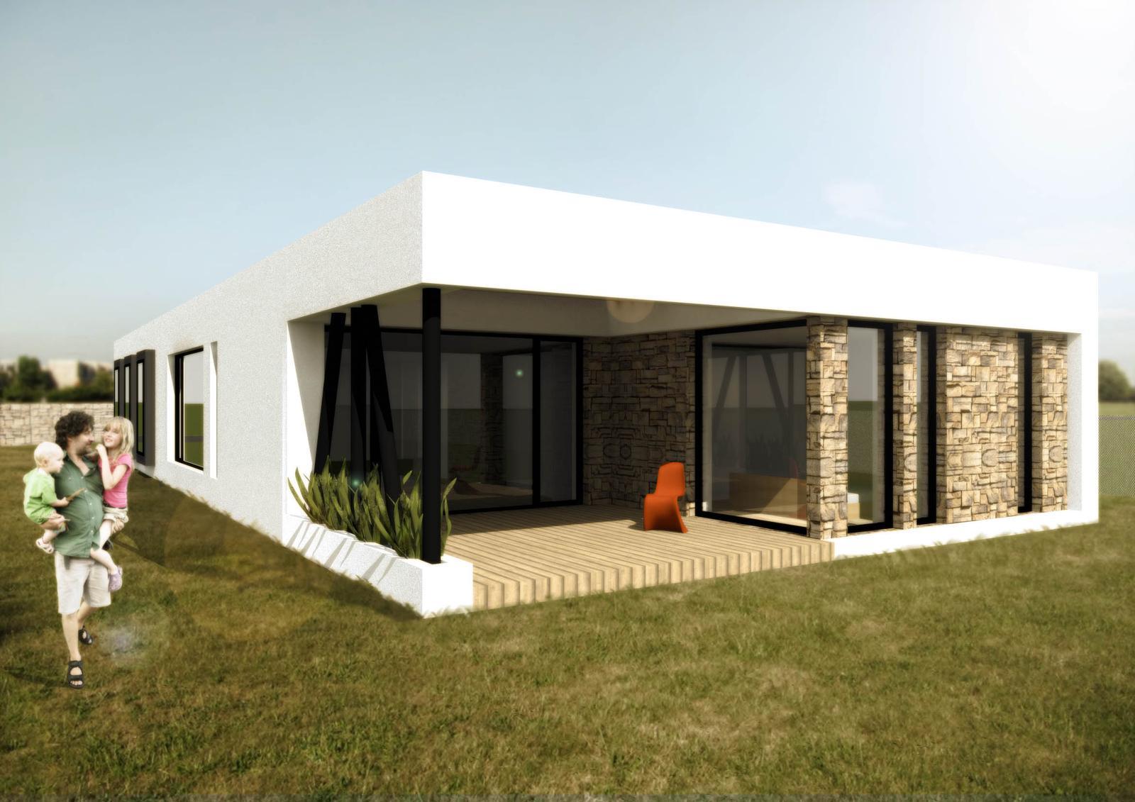 Domečky - bungalov 6+kk + garaz, zastavena plocha bez terasy a kryteho stani cca 205 m2