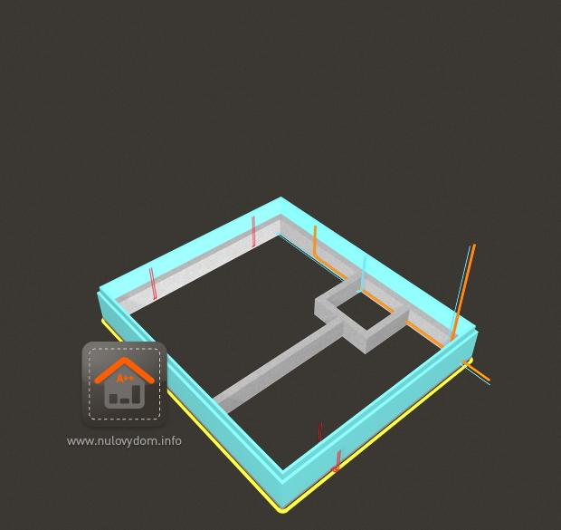 Nulový dom bez komína... Som UFO? - 103 Prve betonovanie B20 vyska 70cm
