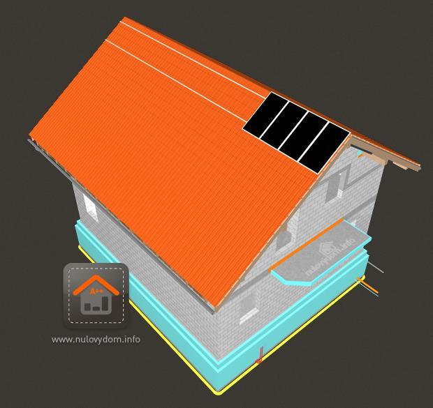 Slnecna elektraren. Raz na celej streche. Vykon celej strechy 11kW.