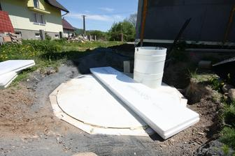 Zateplenie zasobnika dazdovej vody...