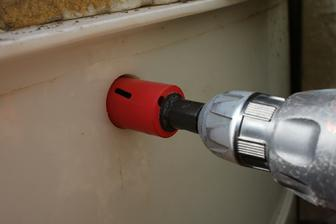 prevrtanie zasobnika na vodu... vstupny ventil na vodu.. Tu bude napojena vodovodna rura 32mm..