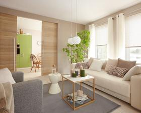 šedá, krémová, prírodná a zelená :