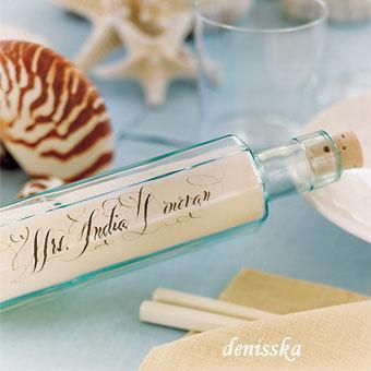 Wedding on the beach 2011 - Menovky na stoly bez toho modreho podkladu