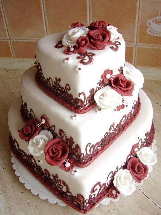 Janča a Jirka - přípravy na červenec 2012 - objevila jsem tenhle úúžasný dort, hodil by se nám do barvy!!!