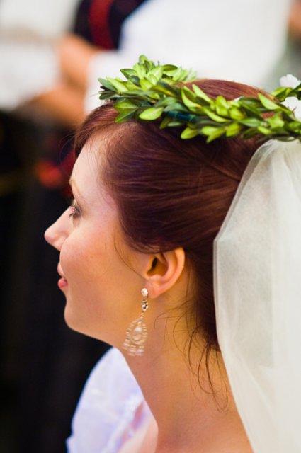 Svadobné detaily - venček na čepčenie