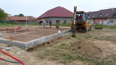 13.8.2014 Příprava na dešťovou kanalizaci