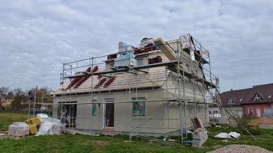 třetí den, začíná se střecha