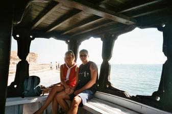 Tak to jsem já a můj miláček na Djerbe, bylo tam nádherně