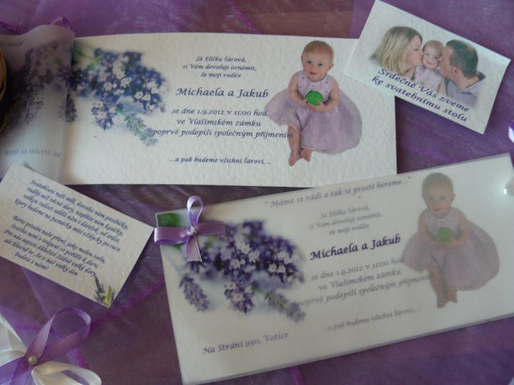 Levandulová....:) - Svatební oznámení