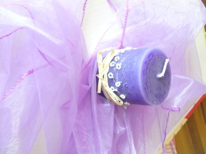 Levandulová....:) - první svíčka