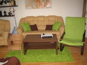 zelena deka Ikea za 2,5 € - novy potah na toto kresielko stal 70 € takže dobry kompromis :)